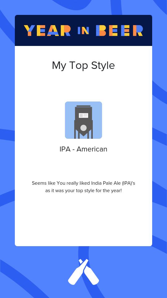 Untappd Year In Beer 2020 - Styles