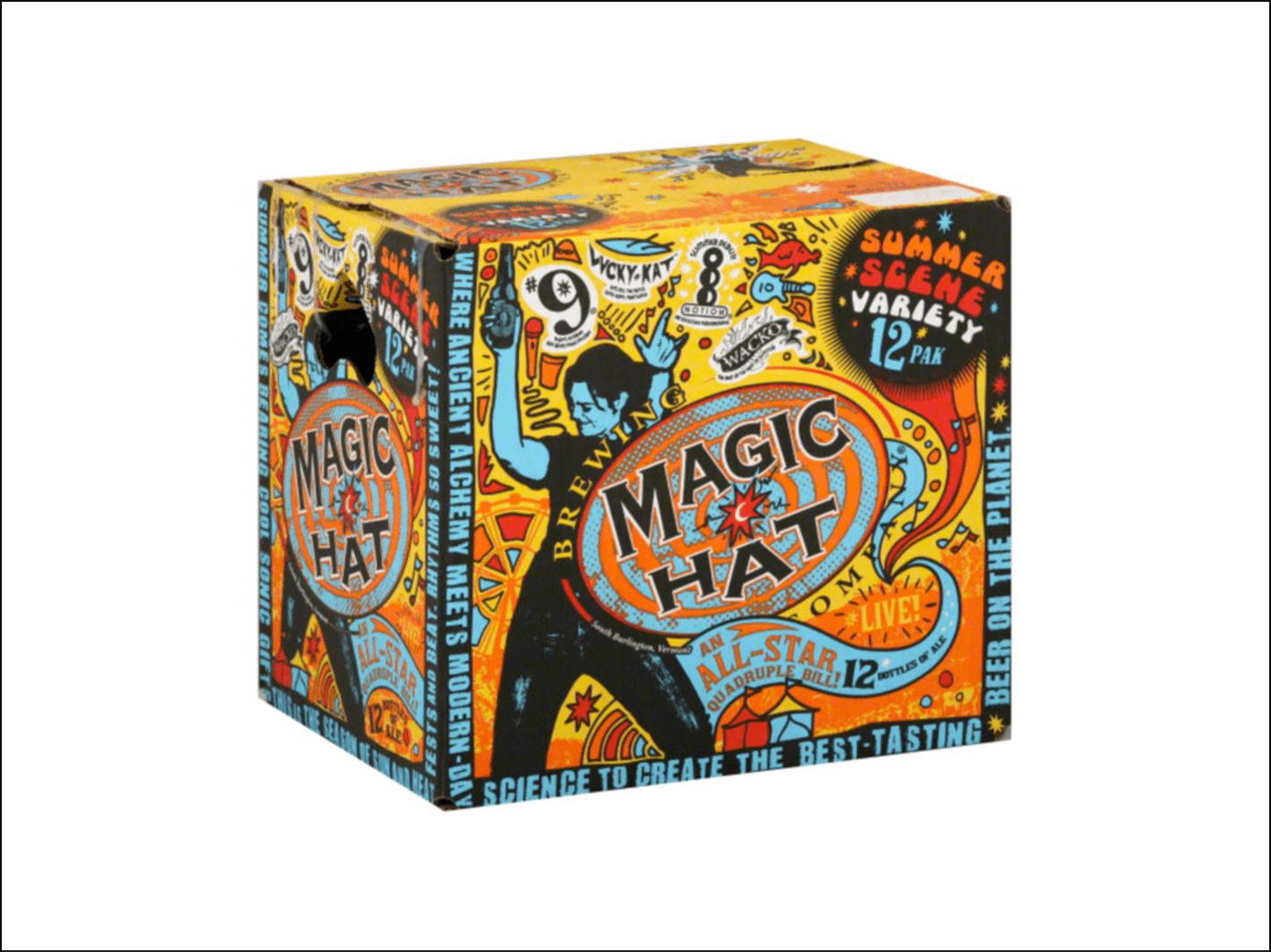 Susan Evans McClure on Magic Hat packaging